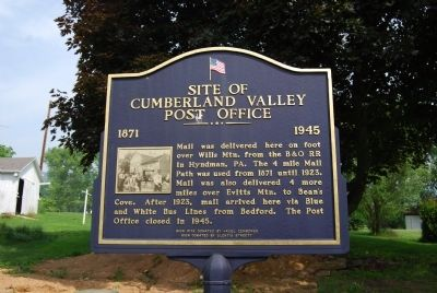 Site of Cumberland Valley Post Office Marker image. Click for full size.