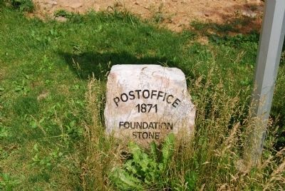 Cumberland Valley Post Office Foundation Stone image. Click for full size.