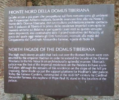 North Facade of the Domus Tiberiana Marker image. Click for full size.