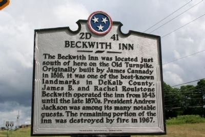 Beckwith Inn Marker image. Click for full size.