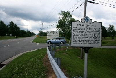Evins' Old Mill Marker image. Click for full size.
