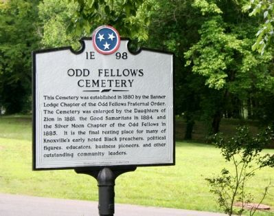Odd Fellows Cemetery Marker image. Click for full size.