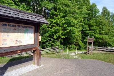 Hoosier Knob Interpretive Trail Head image. Click for full size.