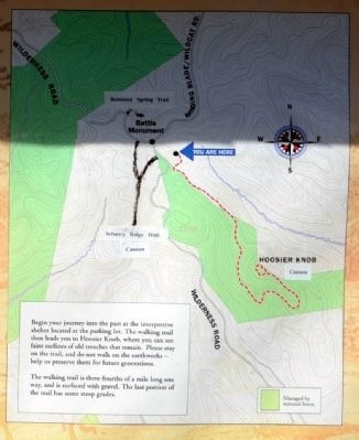 Trail Map to Summit of Hoosier Knob image. Click for full size.