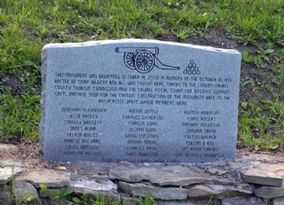 Accompanying Monument to Camp Wildcat Marker image. Click for full size.