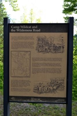 Camp Wildcat and the Wilderness Road Marker image. Click for full size.