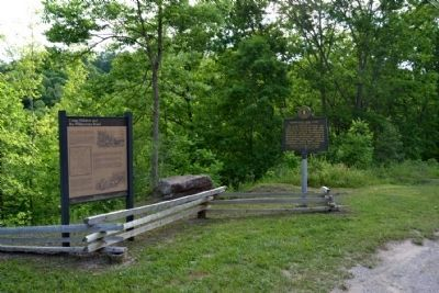 Camp Wildcat and the Wilderness Road and<br>Camp Wildcat / Union Civil War Camp Markers image. Click for full size.