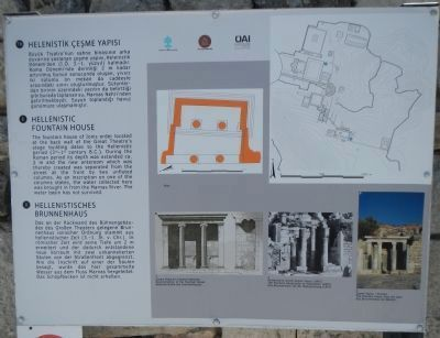 Hellenistic Fountain House Marker image. Click for full size.