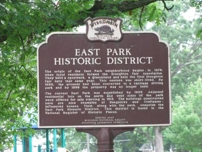 East Park Historic District Marker image. Click for full size.
