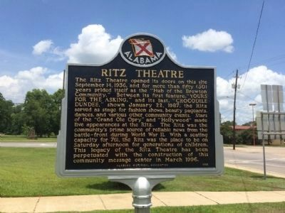 Refurbished Ritz Theater Marker image. Click for full size.