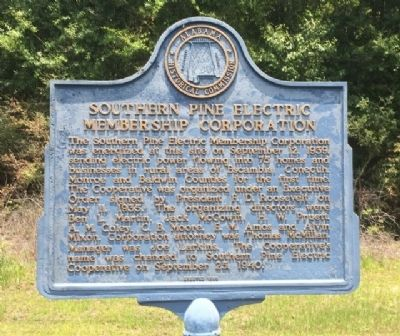 Southern Pine Electric Membership Corporation Marker image. Click for full size.