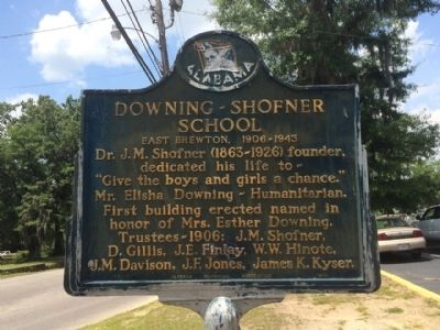 Downing-Shofner School Marker image. Click for full size.