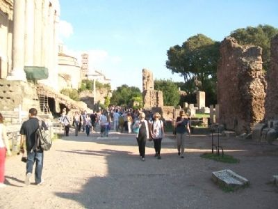 Roman Forum and Marker image. Click for full size.