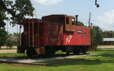 Old Frisco Railway caboose. image. Click for full size.