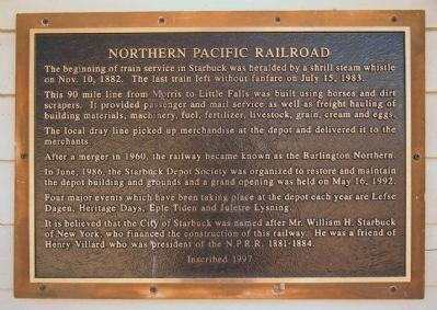 Northern Pacific Railroad Marker image. Click for full size.
