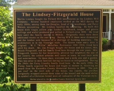 Lindsey-Fitzgerald House Marker image. Click for full size.