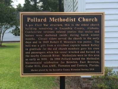 Pollard Methodist Church Marker image. Click for full size.