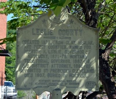 Leslie County Marker image. Click for full size.