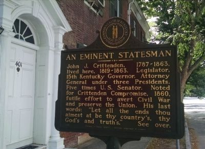 An Eminent Statesman Marker image. Click for full size.