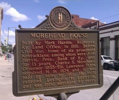 Morehead House Marker image. Click for full size.