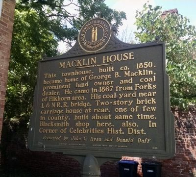 Macklin House Marker image. Click for full size.