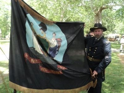 Gen. Grant Displays the Flag of the14th New Jersey Infantry Regiment image. Click for full size.