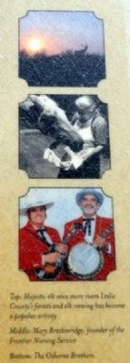 Elk, Mary Breckinridge, and the Osborne Brothers image. Click for full size.