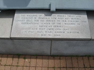 Plaque at the Base of the Anchor image. Click for full size.