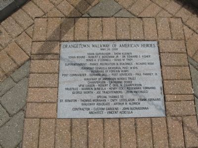 Orangetown Walkway of American Heroes image. Click for full size.