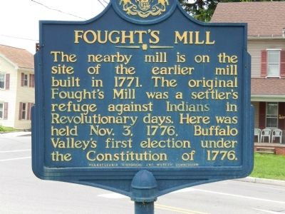 Fought's Mill Marker image. Click for full size.