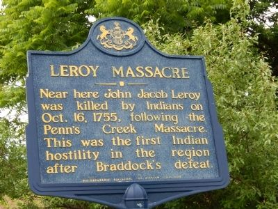 Leroy Massacre Marker image. Click for full size.