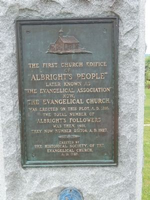 """Albright's People"" Marker image. Click for full size."