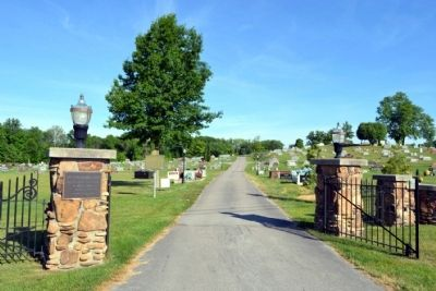 South Entrance to A.R. Dyche Memorial Park Cemetery image. Click for full size.