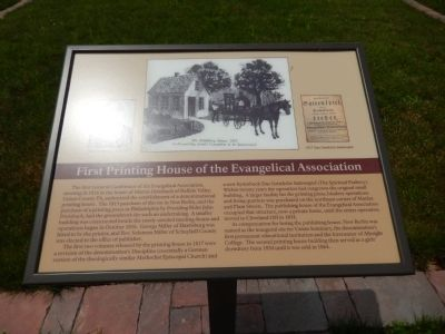 First Printing House of the Evangelical Association Marker image. Click for full size.