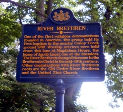 River Brethren Marker image. Click for full size.