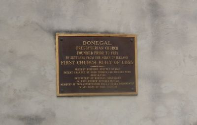 Donegal Presbyteriam Church Marker image. Click for full size.