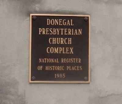 Donegal Presbyteriam Church Complex National Register of Historic Places 1985 image. Click for full size.