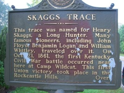 Skaggs Trace Marker image. Click for full size.