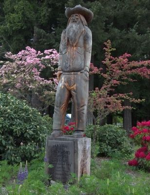 "Virgil Jeffries, ""Mayor"" of Packwood image. Click for full size."