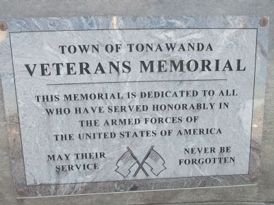 Town of Tonawanda Veterans Memorial Inscription image. Click for full size.