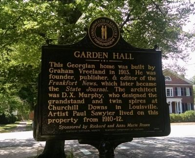 Garden Hall Marker image. Click for full size.