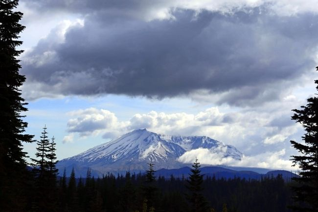 View of Mount St. Helens Today from Bear Meadow image. Click for full size.