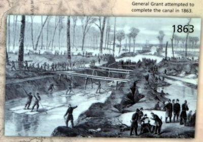 General Grant attempted to complete the canal in 1863 image. Click for full size.