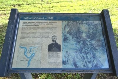 Williams' Canal – 1862 Marker image. Click for full size.