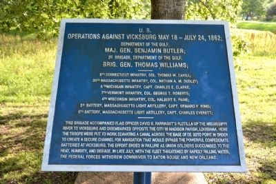 U.S. Operations Against Vicksburg Marker image. Click for full size.
