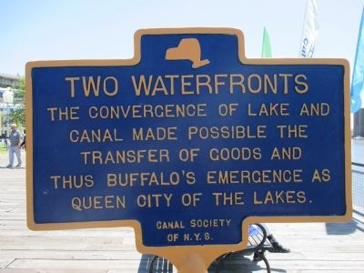 Two Waterfronts Marker Side image. Click for full size.