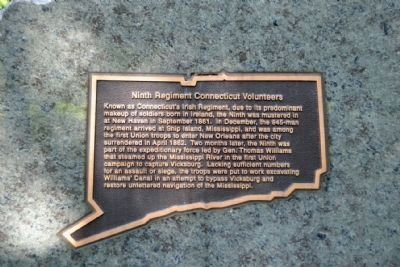 Ninth Regiment Connecticut<br>Volunteers Memorial image. Click for full size.