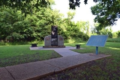Ninth Regiment Connecticut Volunteers Memorial<br>and US African Brigade Marker image. Click for full size.