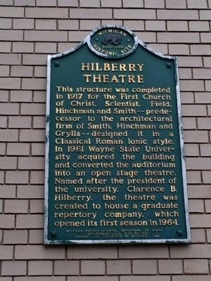 Hilberry Theatre marker image. Click for full size.