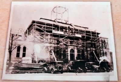 1929 Construction on Wings and Clock Tower image. Click for full size.